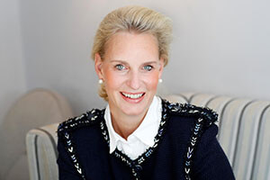Christiane Peters, Interior Designer beim Umbau der Hanse Lounge